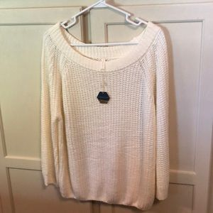 NWT PinkBlush Off White Summer Sweater Size S